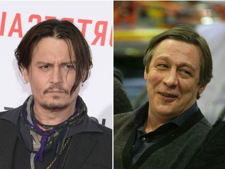 Johnny Depp y Mikhail Efremov