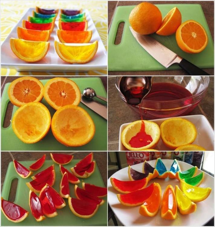 Gelatinas bases laranjas