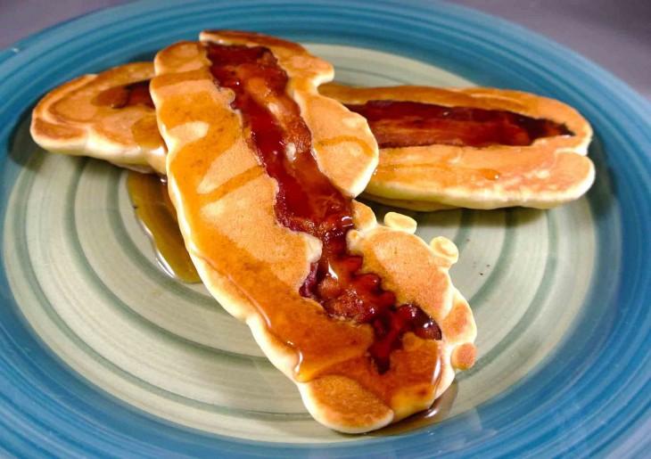 Crepe recheado com bacon