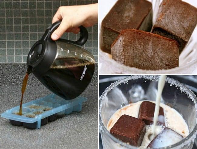 Ices feito do café