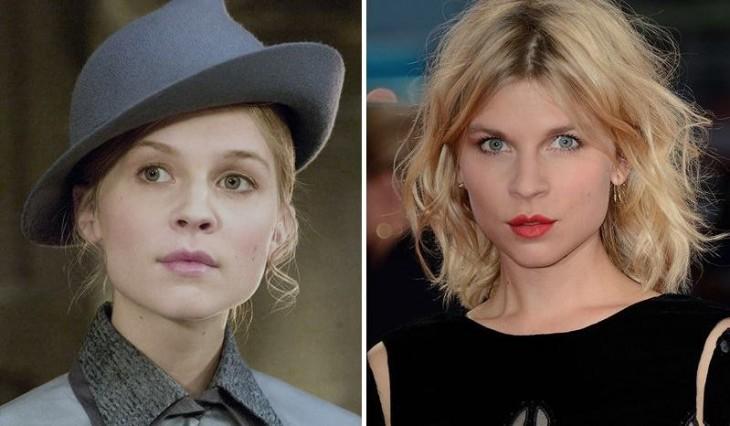 Comparación del antes y después de la actriz Clémence Poésy