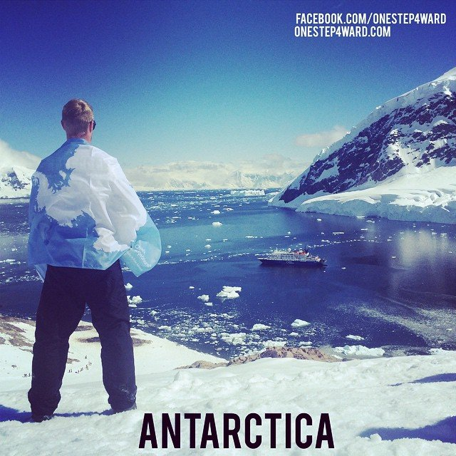 Johnny Ward en la Antarctica
