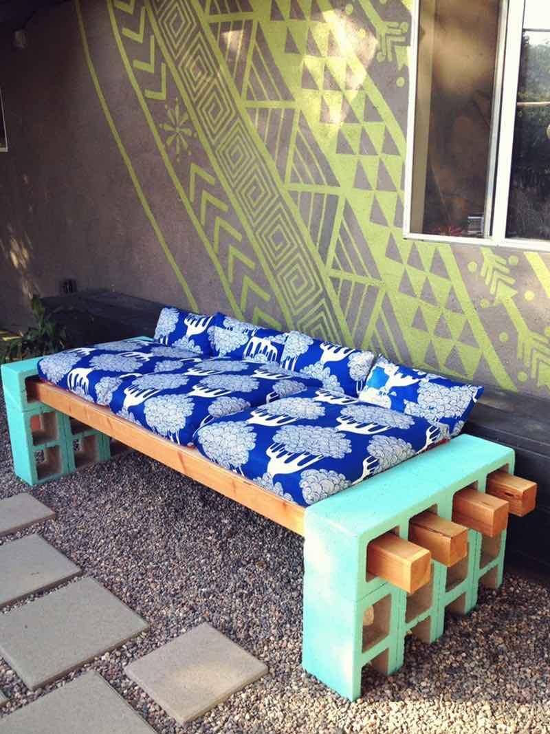 Creativas ideas para adornar tu casa con bloques de cemento - Cojines para sillones de terraza ...
