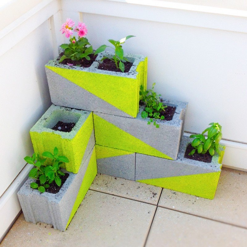 Creativas Ideas Para Adornar Tu Casa Con Bloques De Cemento - Cosas-creativas-para-hacer-en-casa