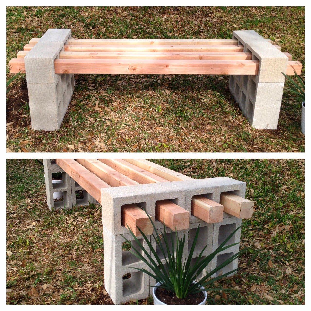 Creativas ideas para adornar tu casa con bloques de cemento for Cosas hechas de madera