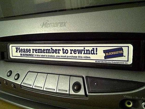 VHS antes de entrar a una videocasetera