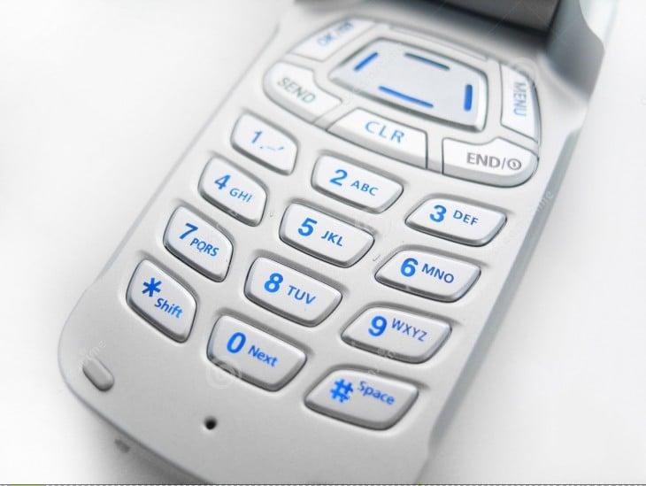 Teclas de un celular