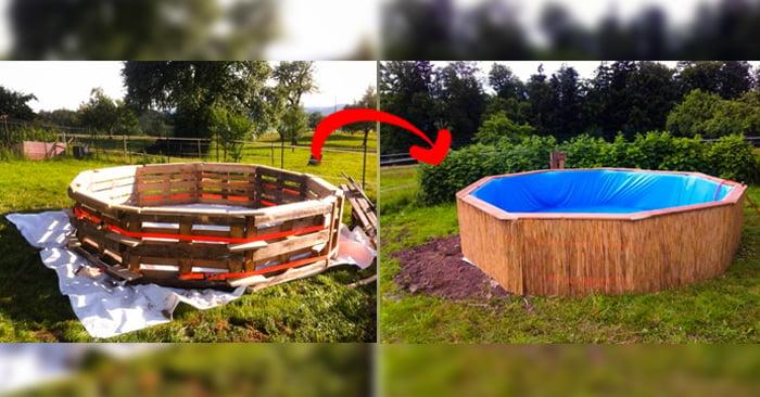 Procedimiento para construir una piscina hecha con palets for Como hacer una alberca con tarimas