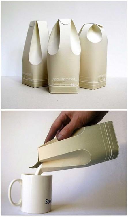 contenedor de cartón para leche