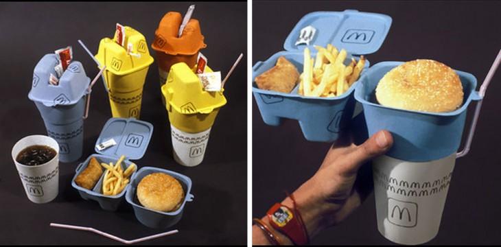 Bandeja de comida rápida biodegradable