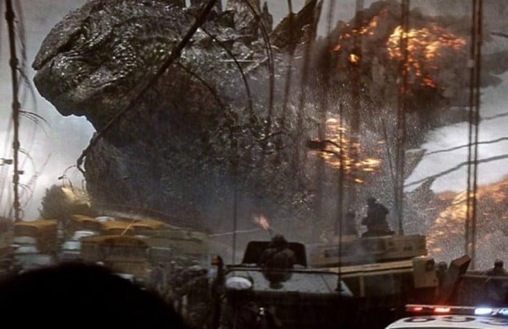 Escena de la película Godzila