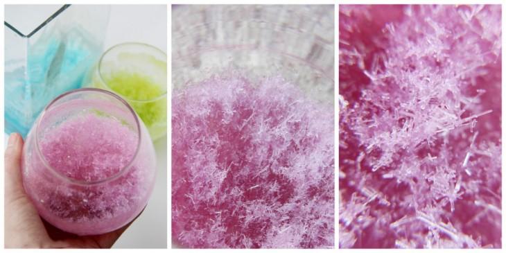 Recipientes de vidrio con cristales mágicos