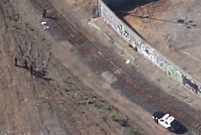 Escena de un asesinato capturada por Google Street View