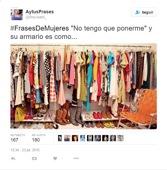 impresión de pantalla con la imagen de un closet de mujer