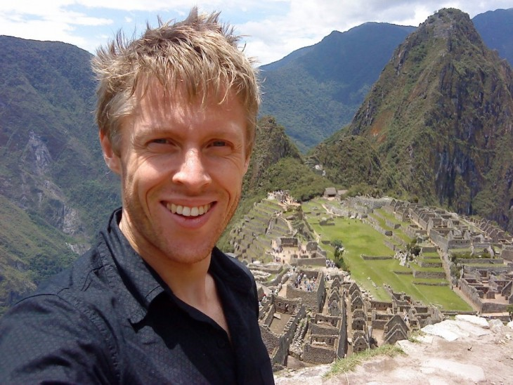 Gunnar Garfors en el Machú Pichu