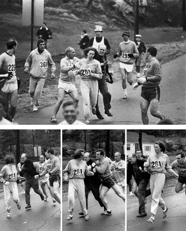 Kathrine Switzer primer mujer en correr en la carrera de Boston en 1967
