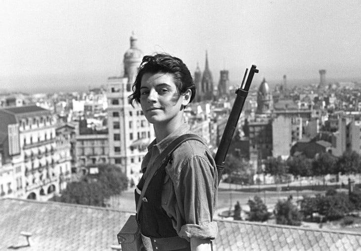 Marina Jinesta, miembro de la juventud comunista catalana