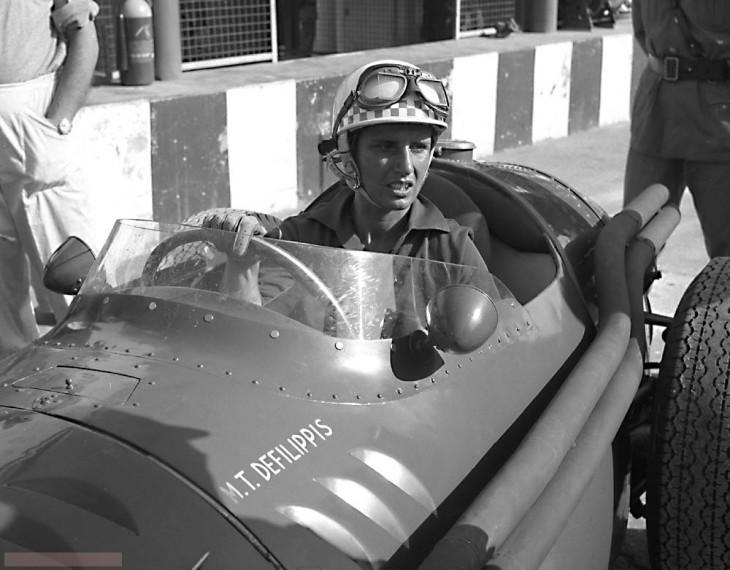 María Teresa de Filippis es la primer mujer piloto en la Formula 1