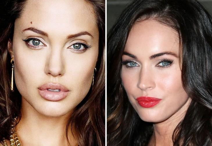 Caras de Angelina Jolie y Megan Fox