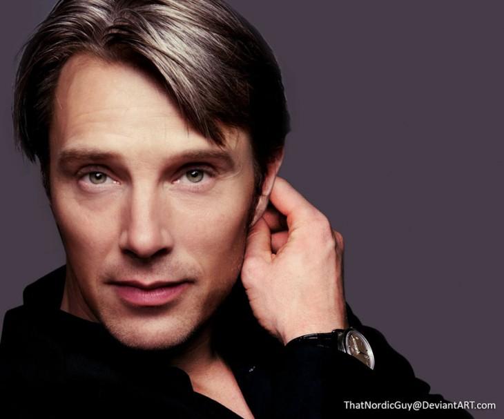 combinación de la cara de Benedict Cumberbatch y Mads Mikkelsen