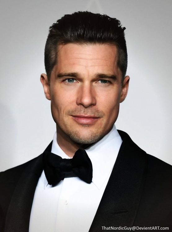 Cara de la combinación de Brad Pitt / Ethan Hawke