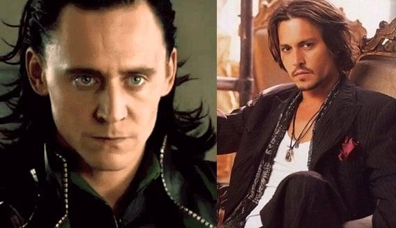Tom Hiddleston y Johnny Depp