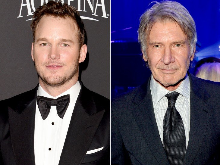 Chris Pratt y Harrison Ford