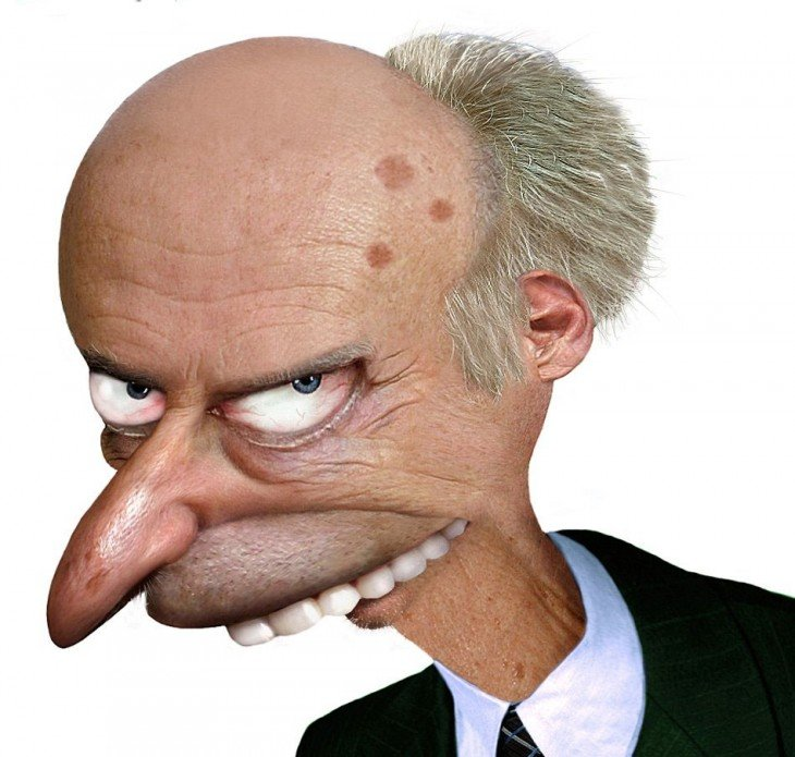 Señor Burns en la vida real