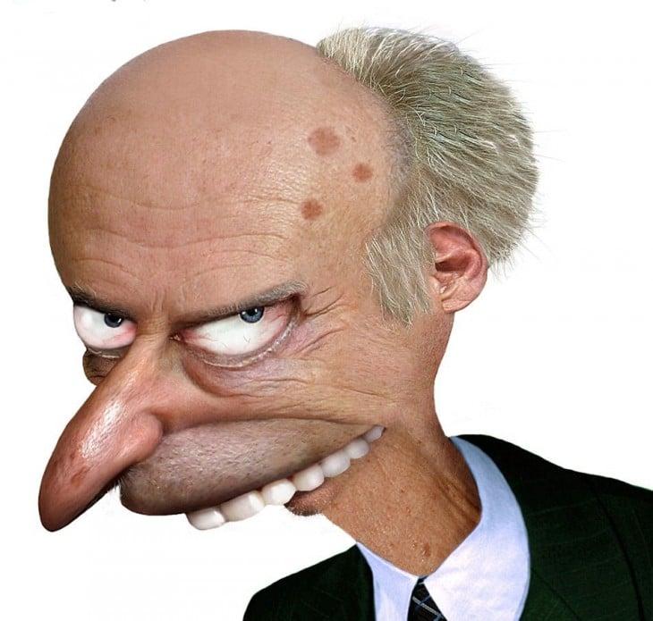 Señor Burns en la vida real