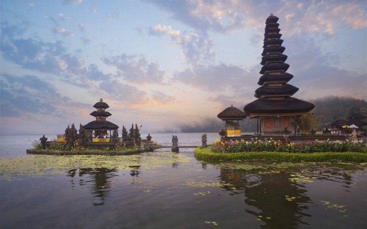 Pura Ulun Danu Bratan temple en Indonesia