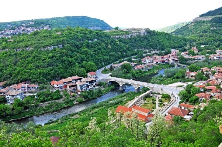 Paisaje con áreas verdes en Bulgaria