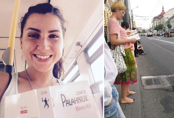 Fotografía dividida en dos partes en donde dos mujeres están leyendo un libro