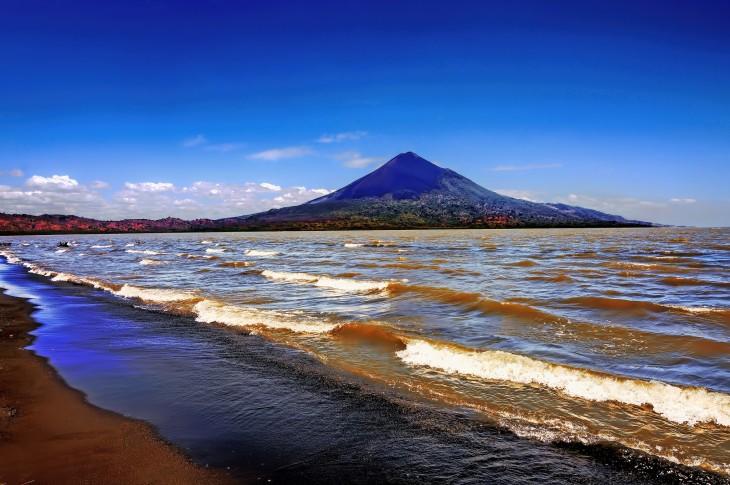 Lago Managua en León, Nicaragua
