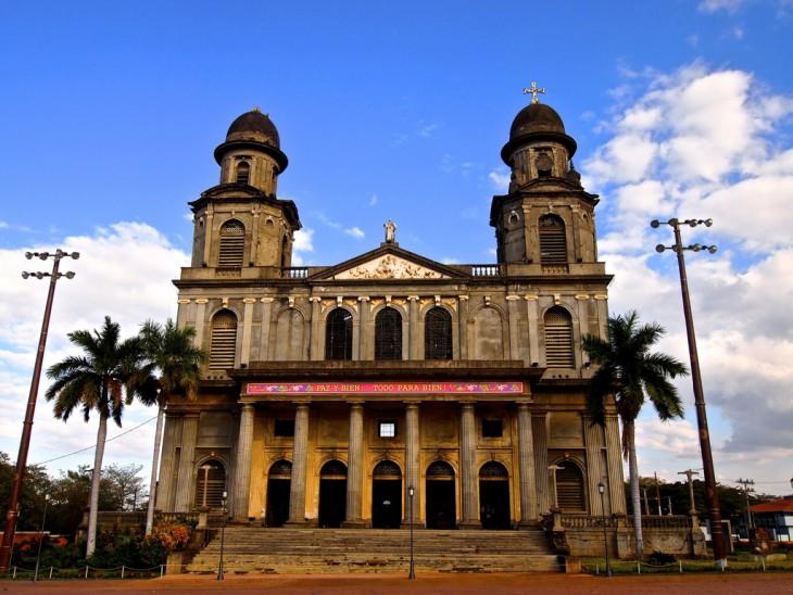 Antigua Catedral Metropolitana de Santiago Managua en Nicaragua
