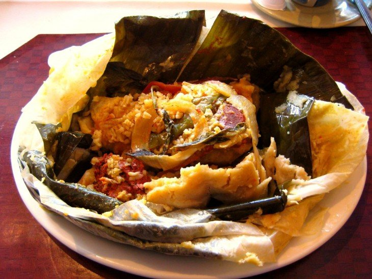 Nacatamal es un platillo típico de Nicaragua