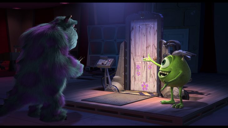 Escena final de la película de Monsters Inc