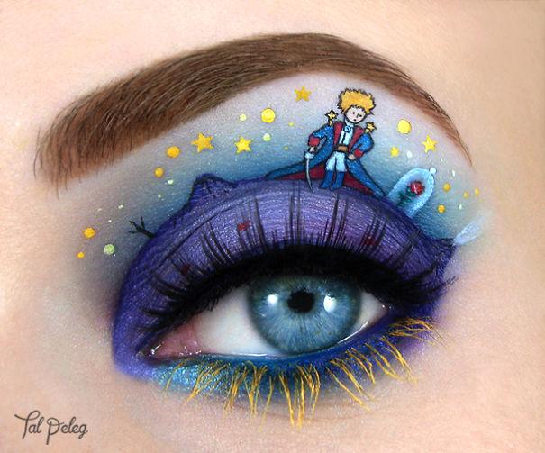 o pequeno príncipe no olho