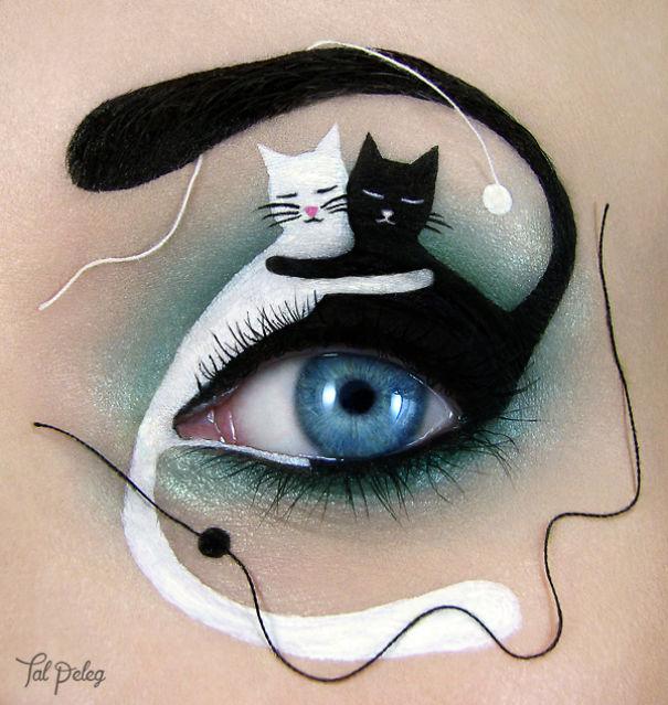 ying yang con unos gatitos