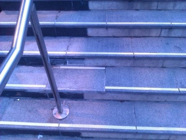 Escaleras con una parte mal colocadas