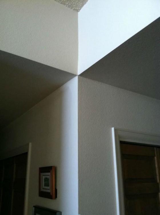 Paredes y estructura del interior de una casa