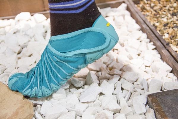 zapatos estilo furoshiki azul turqueza