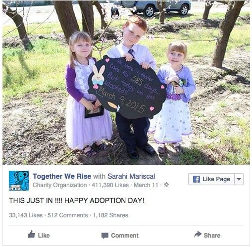 niños fueron adoptados despues de permanecer largfo tiempo en un foster care