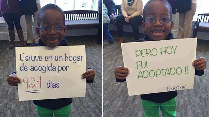 niño adoptado