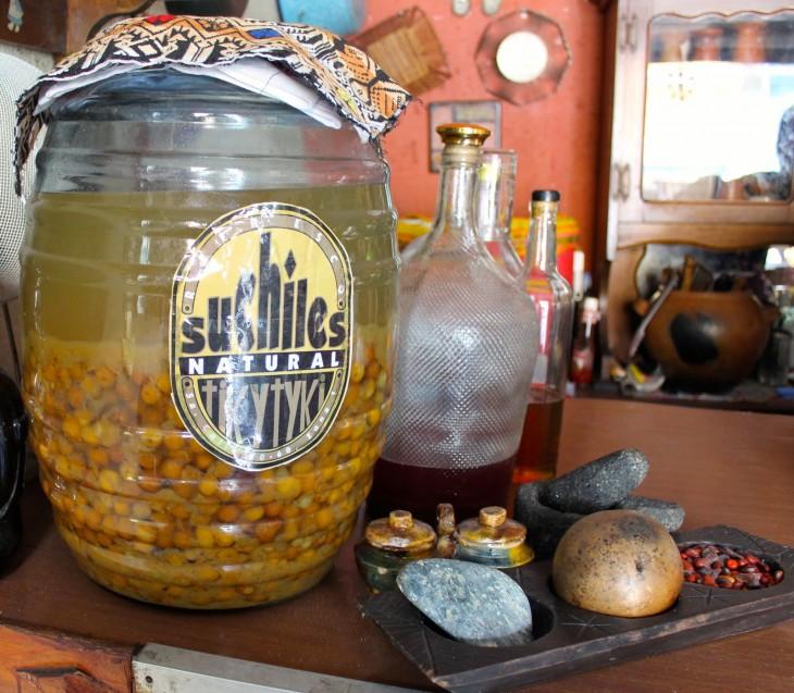 fresco de suchiles o tamarindo en guatemala