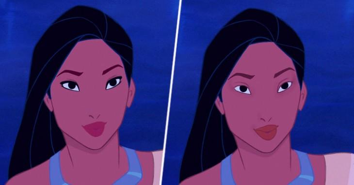 POCAHONTAS sem maquiagem