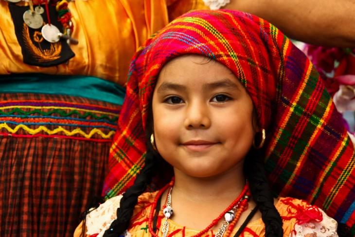 niña indigena salvadoreña