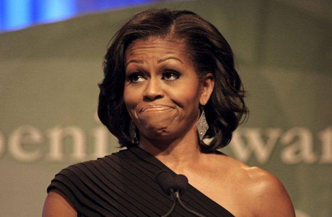Michelle obama enojada