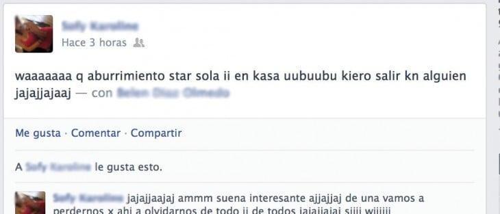 Errores de ortografía en facebook