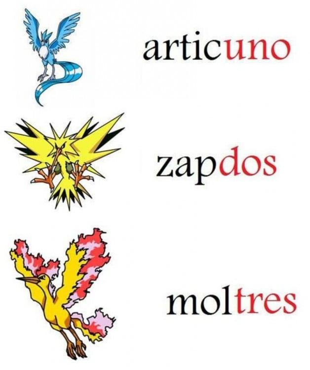 serie numerica de los pokemones