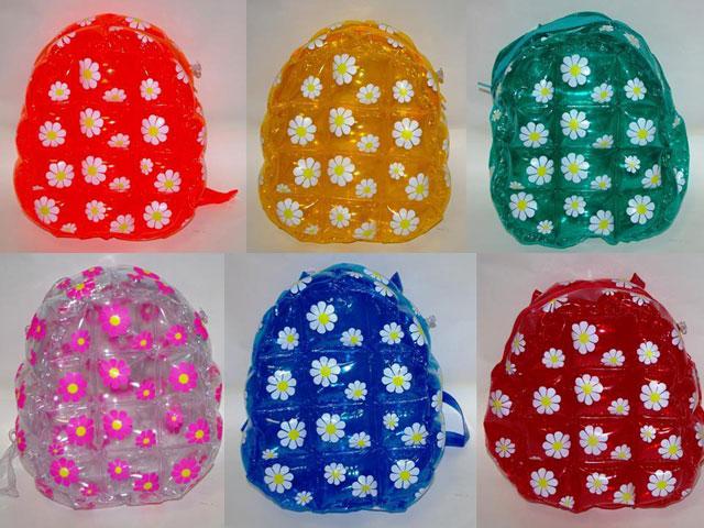 mochilas de plástico para las niñas y adolescente como moda de los 90's